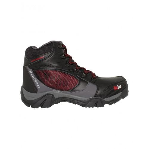 botas para hombre piel negro rojo marca kebo