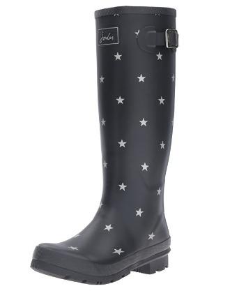 botas para lluvia de dama joules negras con estrellas 23