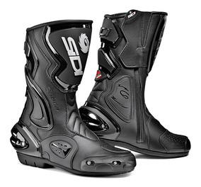 Sidi Negro Botas De Competencia Moto Para Calle Cobra Rain D2W9HIYE