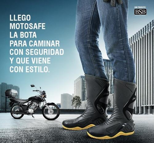 botas para moto lluvia impermeables plantilla flex motosafe