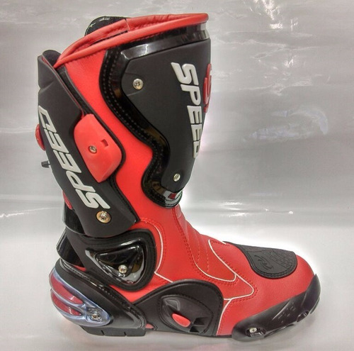 botas para motociclista speed rojo protecciones rider one