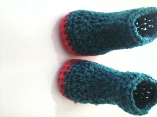 botas para niña tejidas a mano de 0 a 3 meses