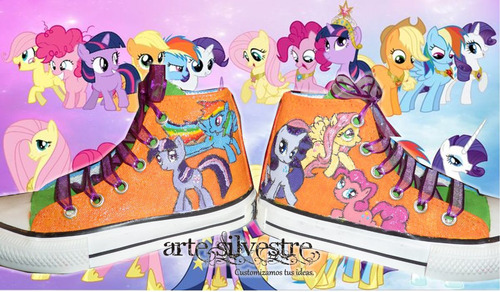 botas pintada/customizada my little pony