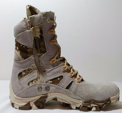 botas pixeladas café tipo desierto militares