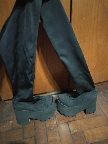 botas plataforma elastizadas caña alta