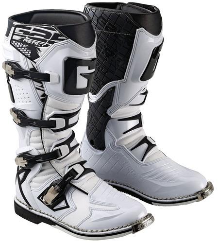 botas p/motocross gaerne g-react goodyear hombre blanco 9