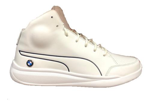 botas puma bmw ms blanco piel 305990-02 look trendy