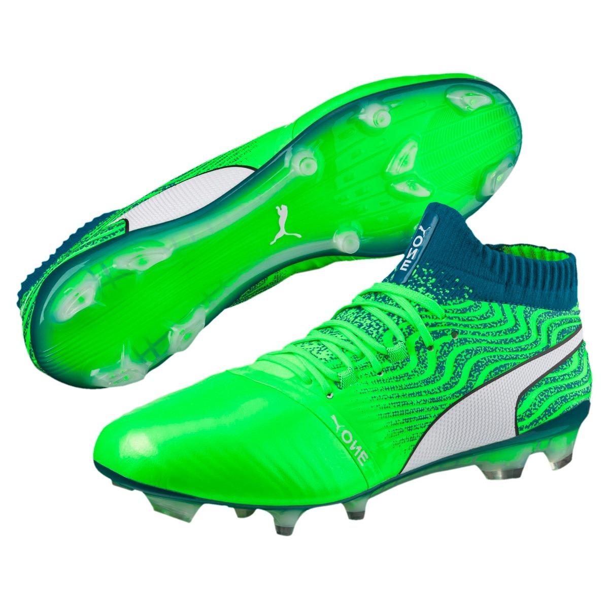 Botas Puma One 18.1 Fg Taquetes Profesionales Verdes A Meses ... f1d40ca550e99