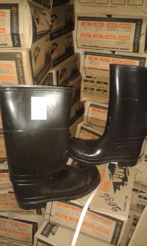 botas pvc goma caña larga con punta de acero tallas 37 a 46
