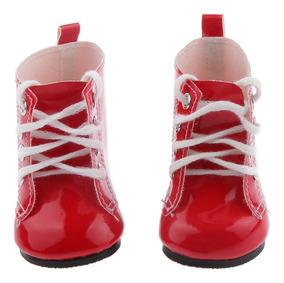 Botas Rojas Con Cordones Pu Martin Botas Para Muñecas De