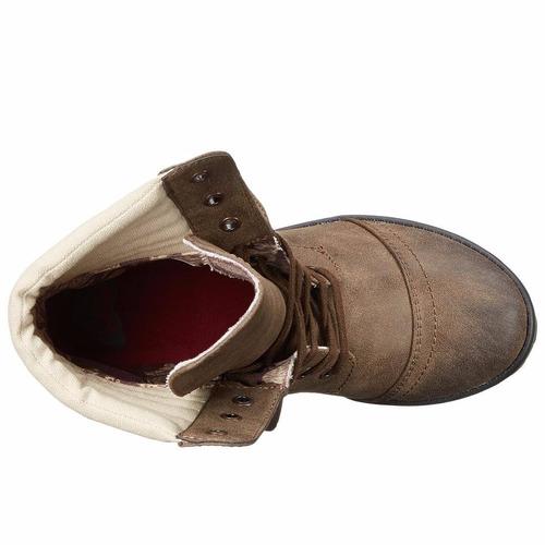 botas roxy combate charley café