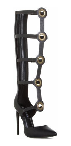 botas sandalias gladiador romana negro 37 38 7 8 stock