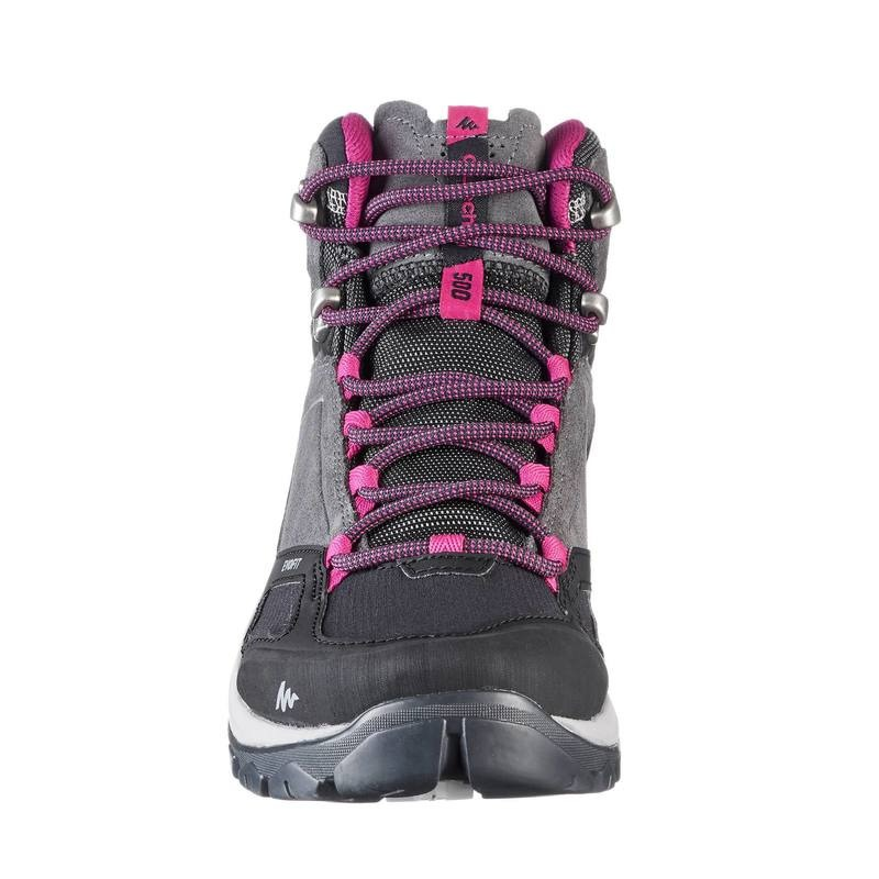 af96c7ca4d5 botas senderismo montaña mujer mh500 mid impermeable gris. Cargando zoom.