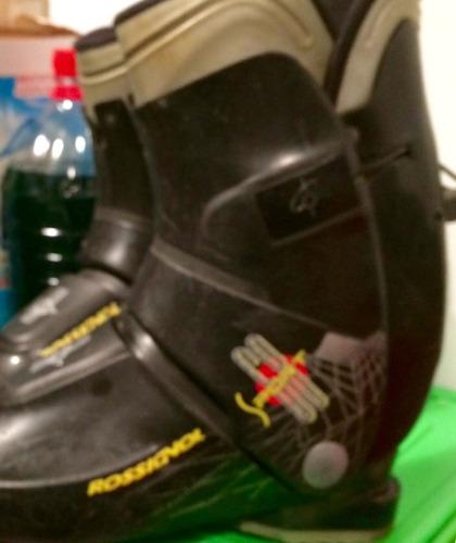 botas ski negra con amarillo