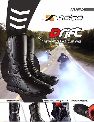 botas solco drift moto motoscba