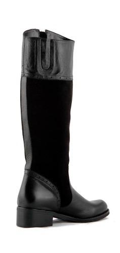 botas stivali camelot cuero negro