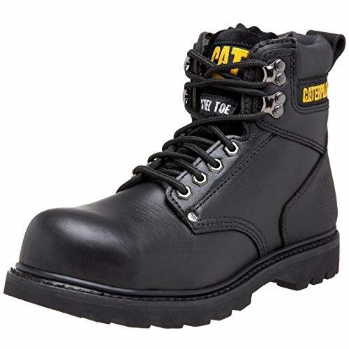 botas tacón de acero de 2 pies de altura negros  8.5 us