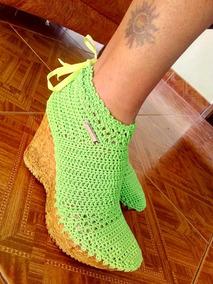 Botas Tejidas A Crochet Y Lana