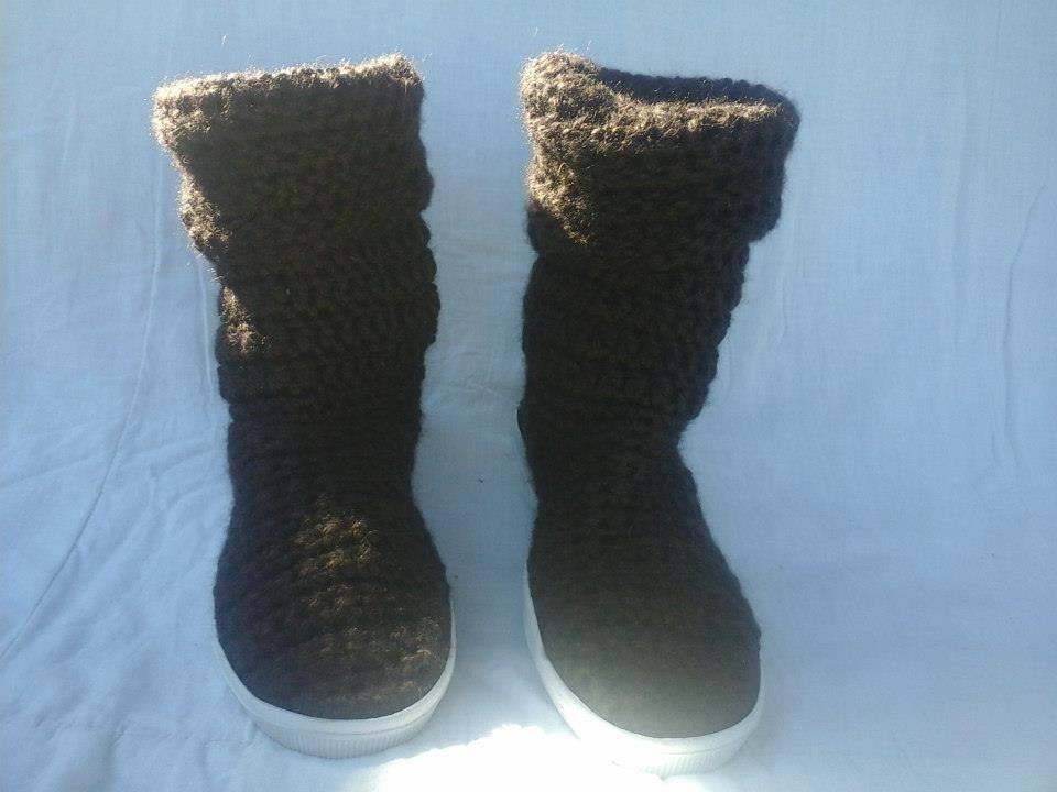 Tejidas Suela Libre Crochet En Mercado 650 00 Botas Al Con IZSxwWRIqd