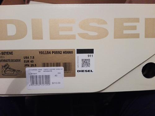 botas tenis diesel seyene talla 7.5 us originales!!