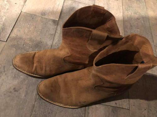 botas texanas cortas - cuero