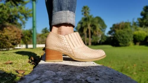 botas texanas cortas mujer dama cuero charritos roma tibay