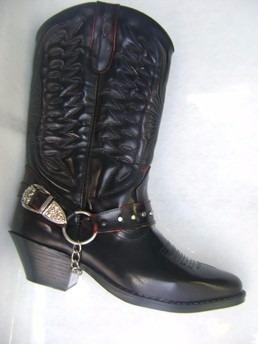 botas texanas rockeras largas del 38 al 45 en rubi o negro