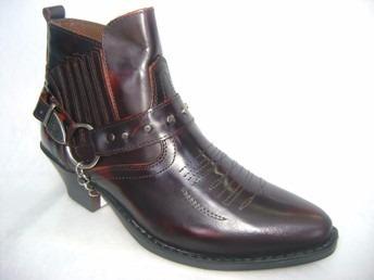 botas texanas/rockeras cortas del 38 al 45 en rubi o negro