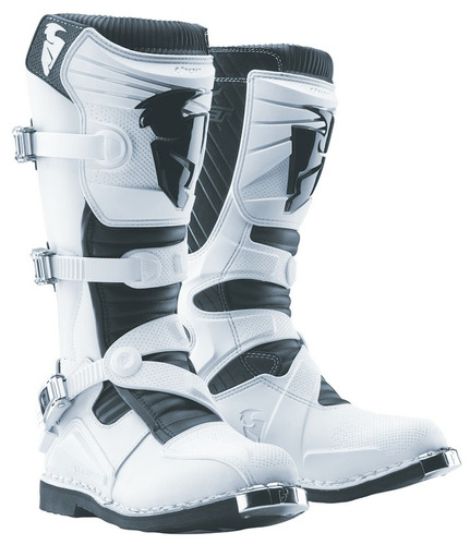 botas thor ratchet motocross mx blanco 15