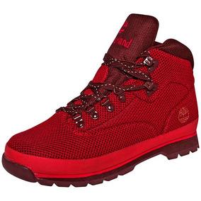 Botines 64287 Dtt Timberland Eurohiker Rojo Caballero Textil kXZOwuTPi