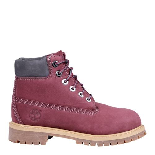 botas timberland® dark red nubuck piel talla19,20,20.5 y21cm