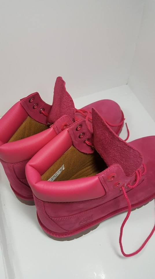 Botas Timberland En Piel Color Rosa Para Mujer # 24