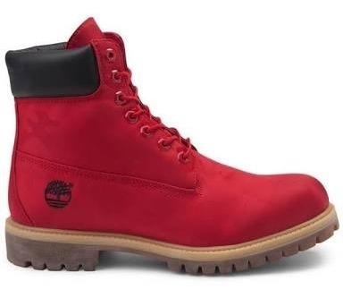 Botas Timberland Jacquard Classic Rojo Camuflaje Waterproof