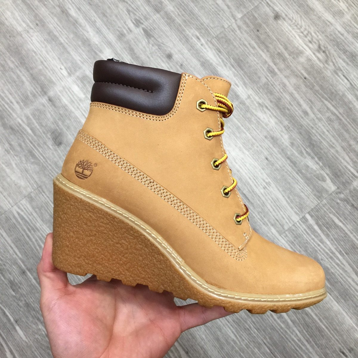 Botas Timberland Mujer Amston Ocre 8251a Look Trendy