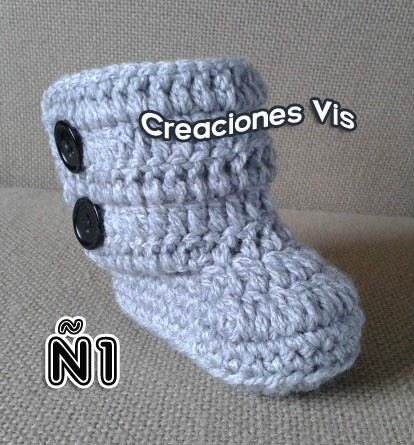 Botas Tipo Uggg Para Bebé Tejidas A Mano Crochet Más Modelos ...