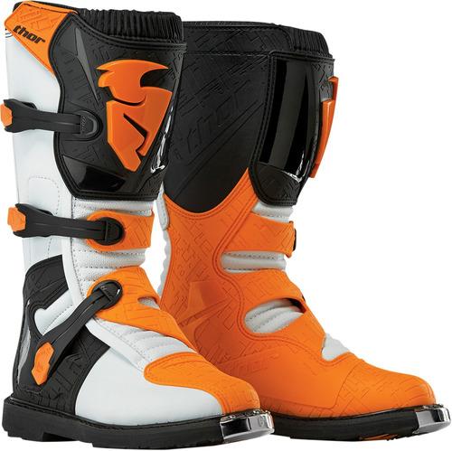 botas todoterreno thor blitz s5 blanca/naranja 7