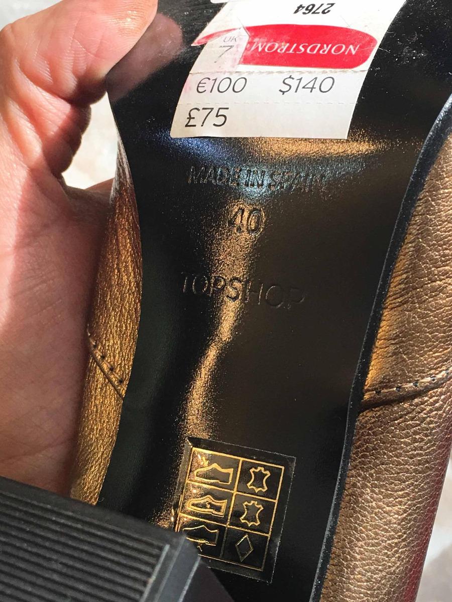 Botas Topshop 50% Desc. Doradas De Piel Nuevas Gucci -   300.00 en ... 945d6c22447