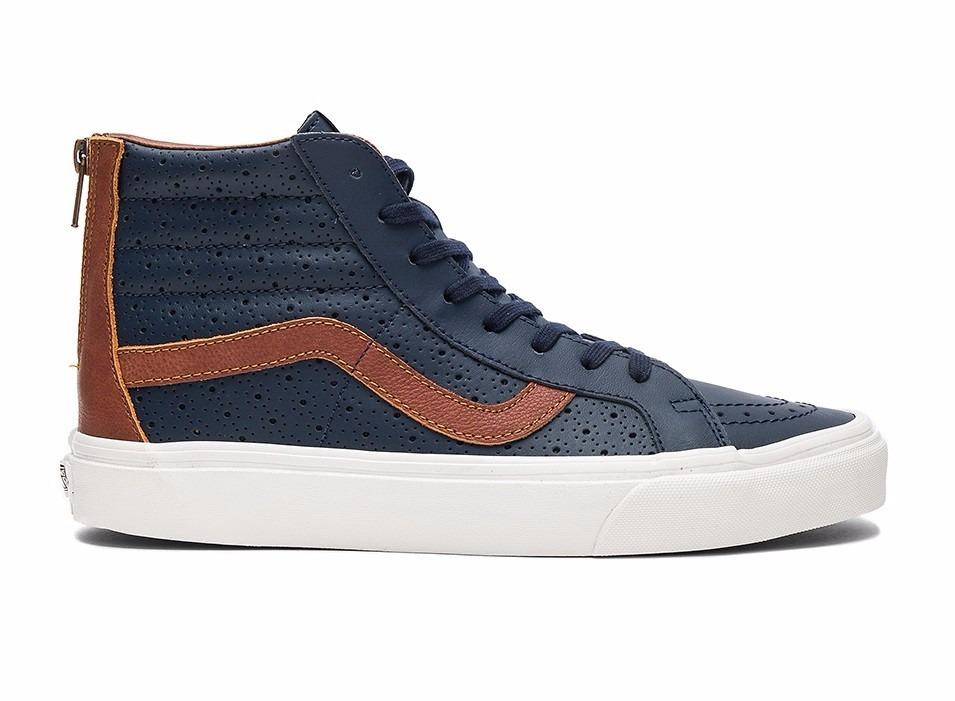 botas vans azul y negras