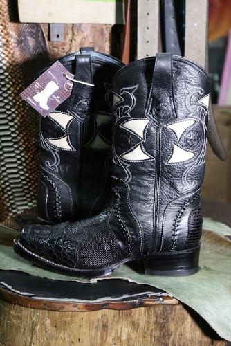 botas vaqueras caballero exóticas piel de caimán originales