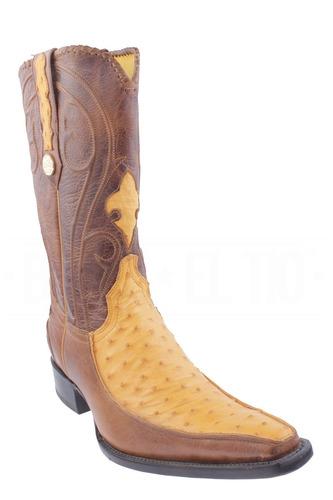 botas vaqueras caballero original avestruz con piel versache