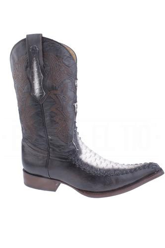 botas vaqueras clonada piton con piel tejida general boots