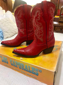 descuento de venta caliente gran inventario zapatillas de skate Botas De Armadillo Mujer Vaqueras - Botas y Botinetas Rojo ...