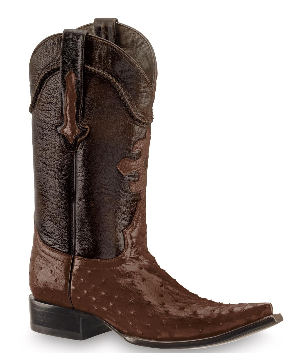 Botas de avestruz color gris ropa bolsas y calzado en mercadolibre - Botas Vaqueras Piel Ternera Y Avestruz Cafe Hombre Original