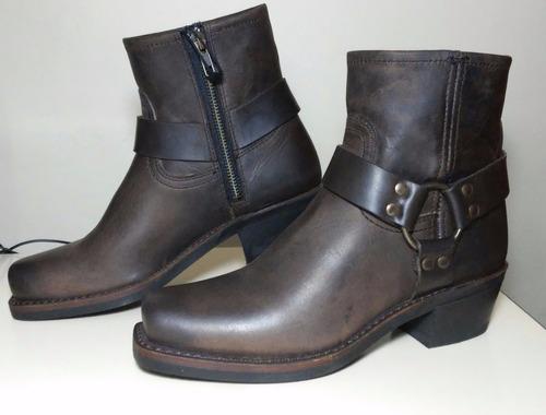 botas vaqueras zapatos cuero frye de lujo dama harness 6