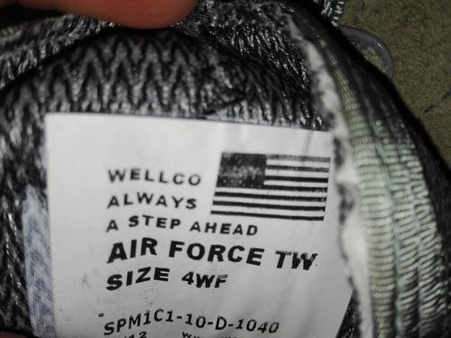botas wellco air force tw militares dama casquillo vibram
