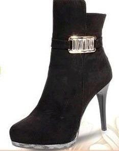 botas y botines calzado dama moda frio invierno piel