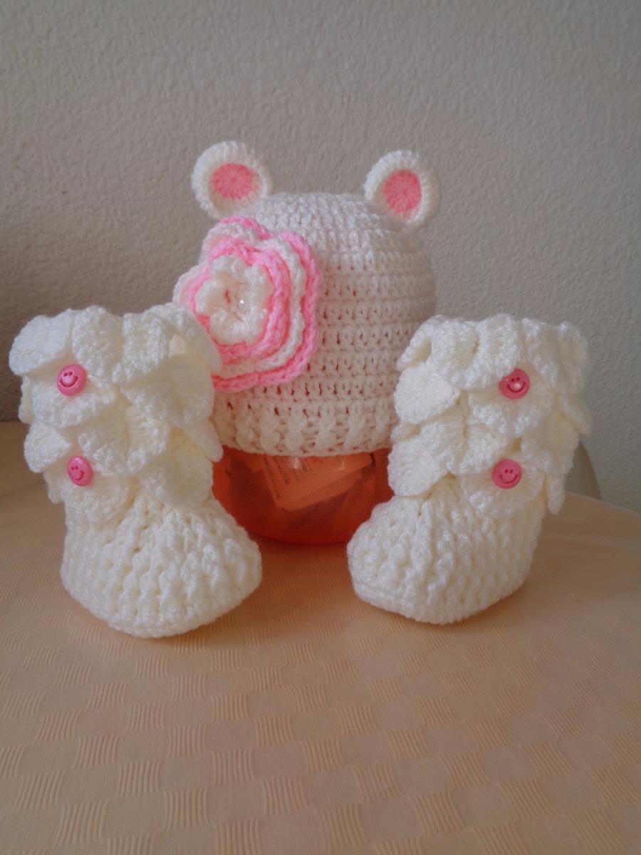 botas y gorro tejidos para bebés. Cargando zoom. d308a95a867