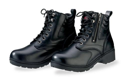 botas z1r maxim p/mujer cuero impermeable negro 6.5