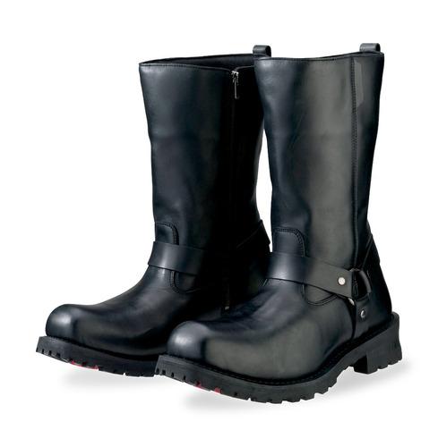 botas z1r riot p/hombre cuero impermeable negro 12