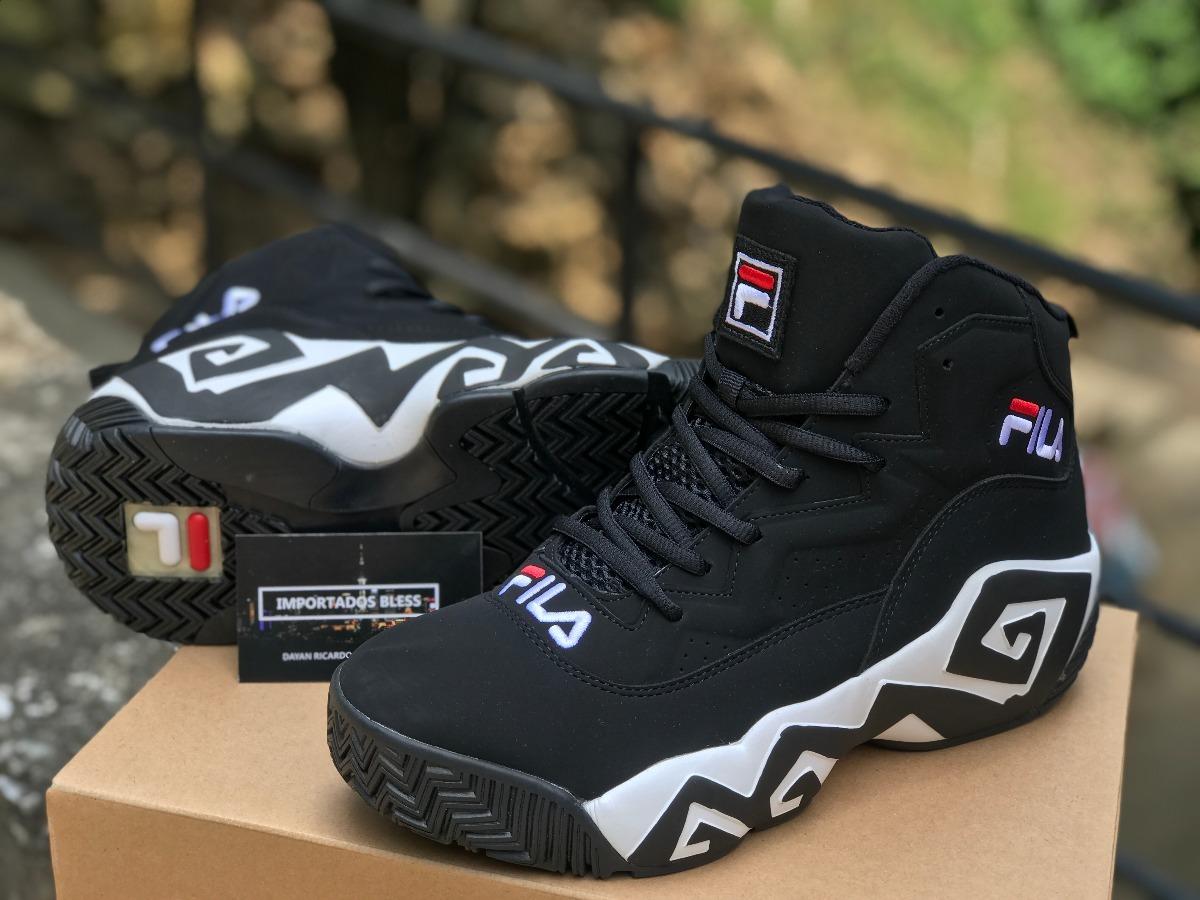 Botas Zapatillas Fila Mb Mesh Negra Blanca Hombre Originales